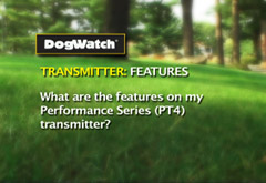 What are the features on my Performance Series (PT4) transmitter?