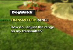 How do I adjust the range on my transmitter?