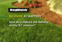 How do I replace the battery on my R7 receiver?